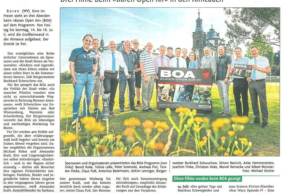 Unsere Beratung der Stadt Büren im Rahmen der BOA 2017